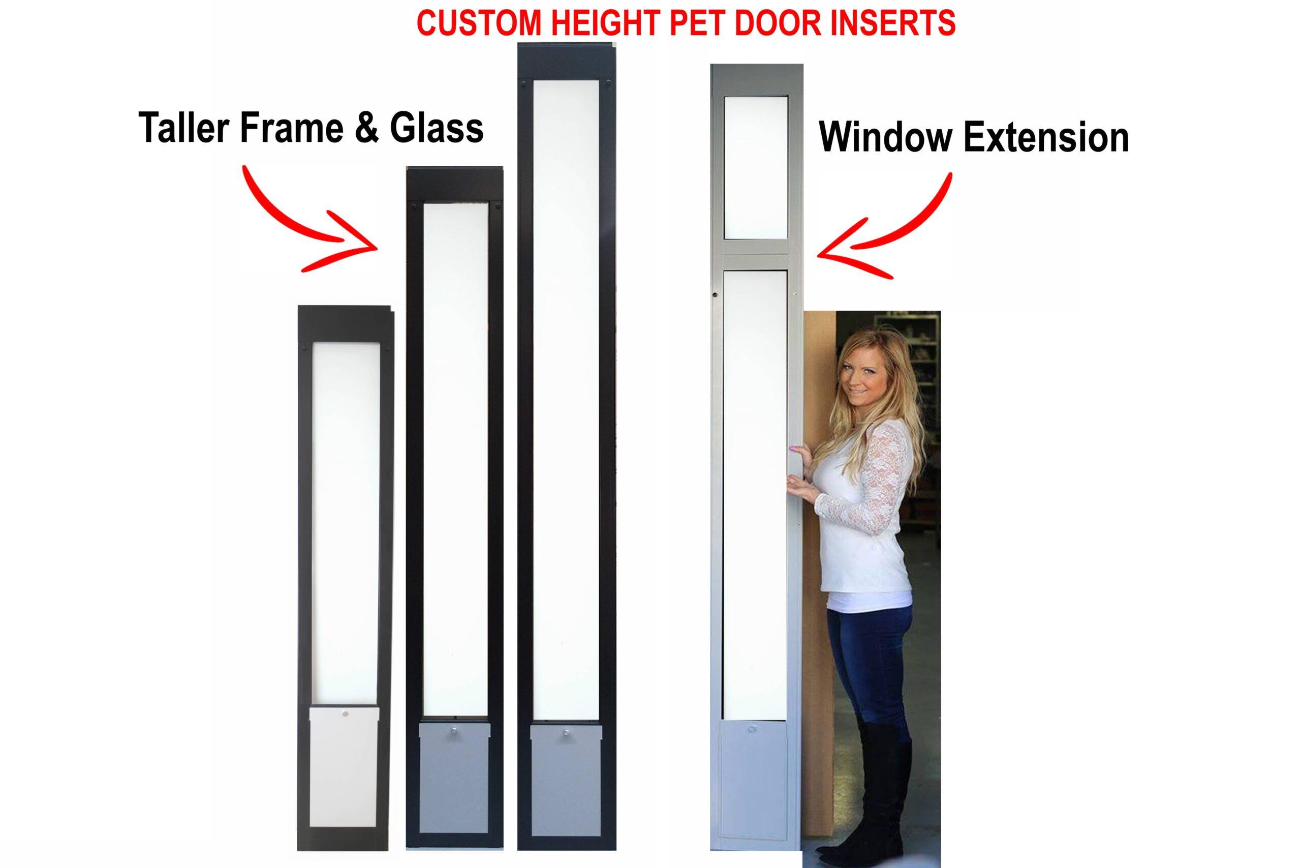 Custom Height Pet Door Inserts