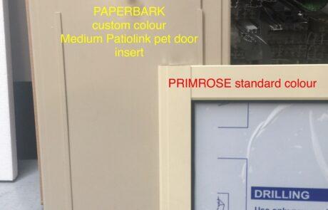CUSTOM COLOUR pet door inserts