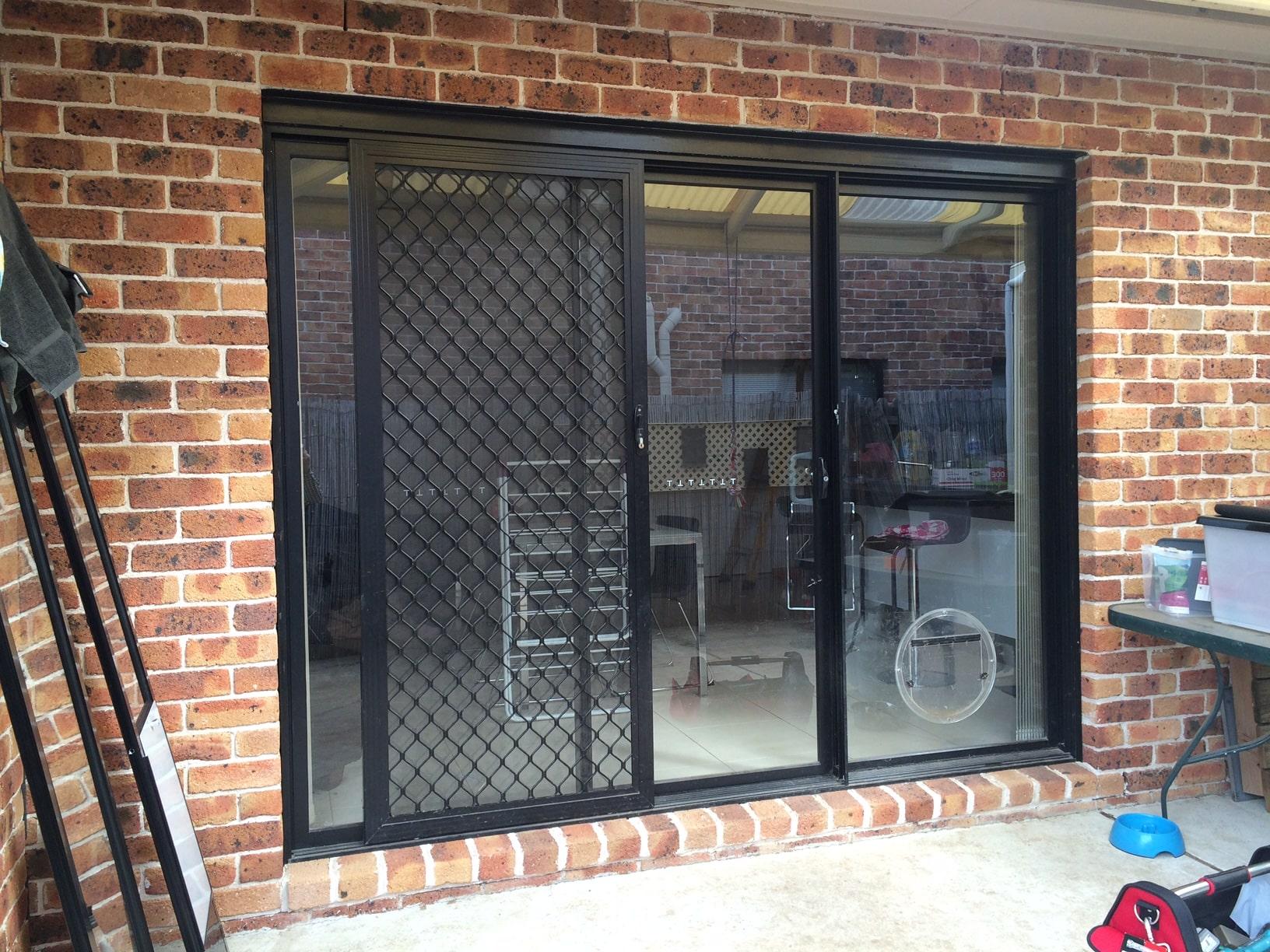 BEFORE - Door Cut In Glass