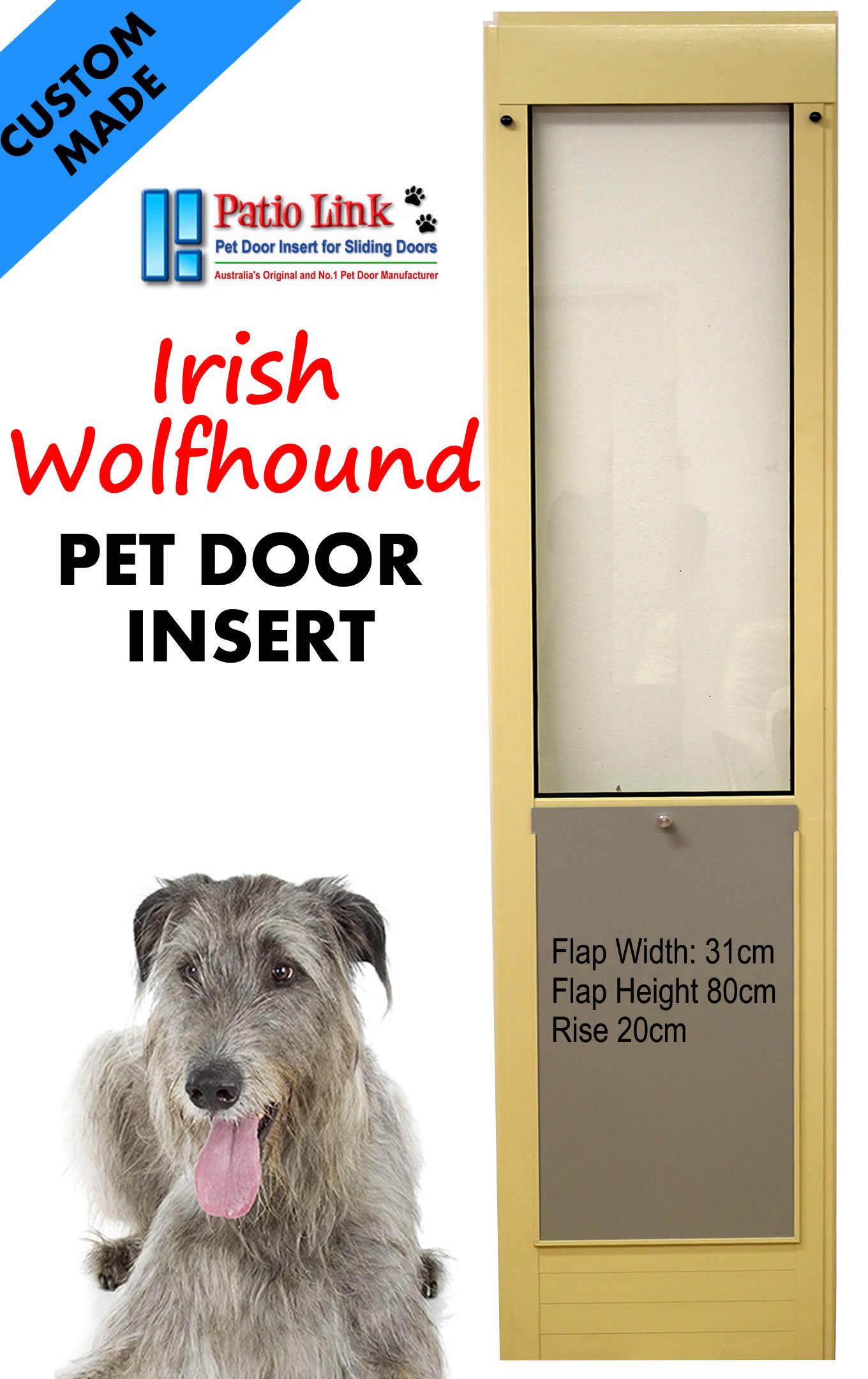 Irish Wolfhound Pet Door Inset