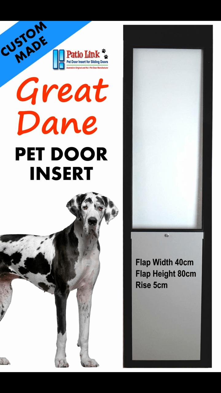 Great Dane Custom Pet door insert