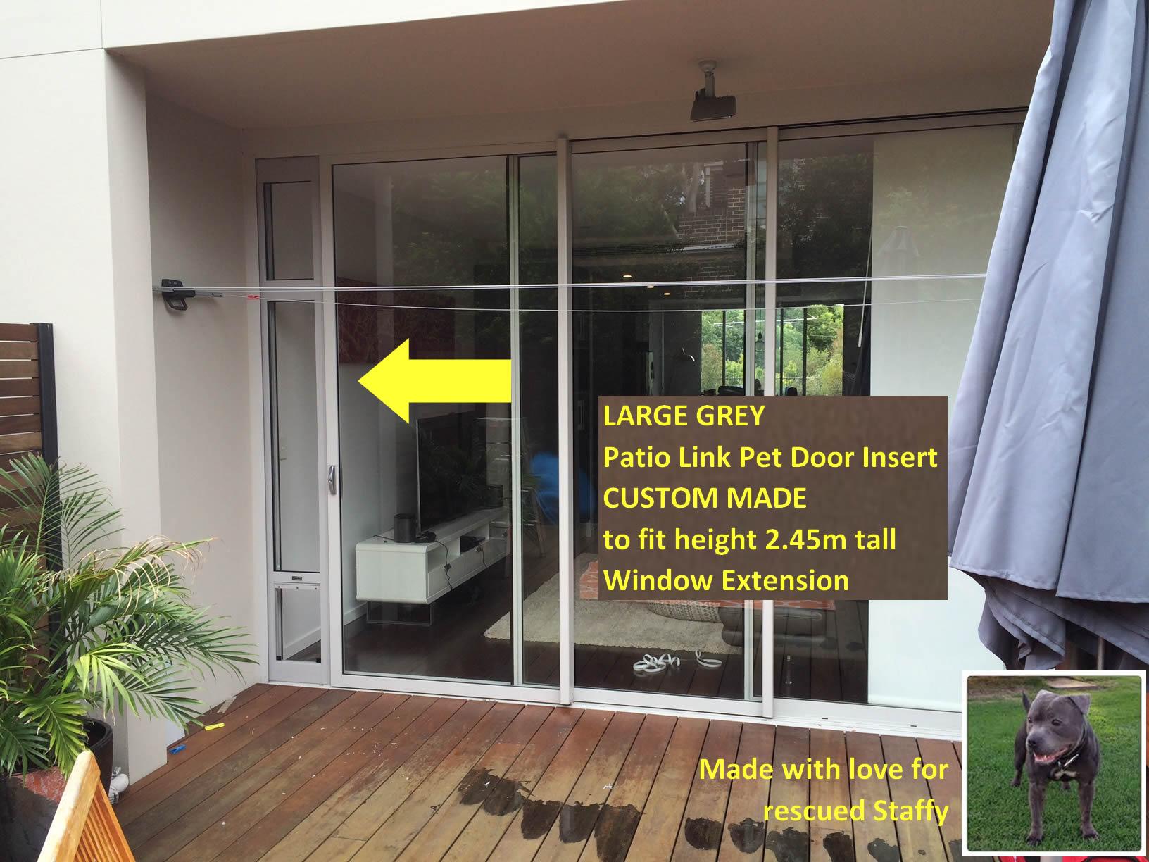 Large Grey Pet Door Insert