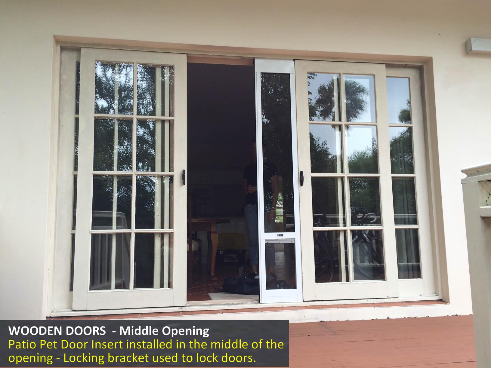 Wooden Doors - Middle Opening