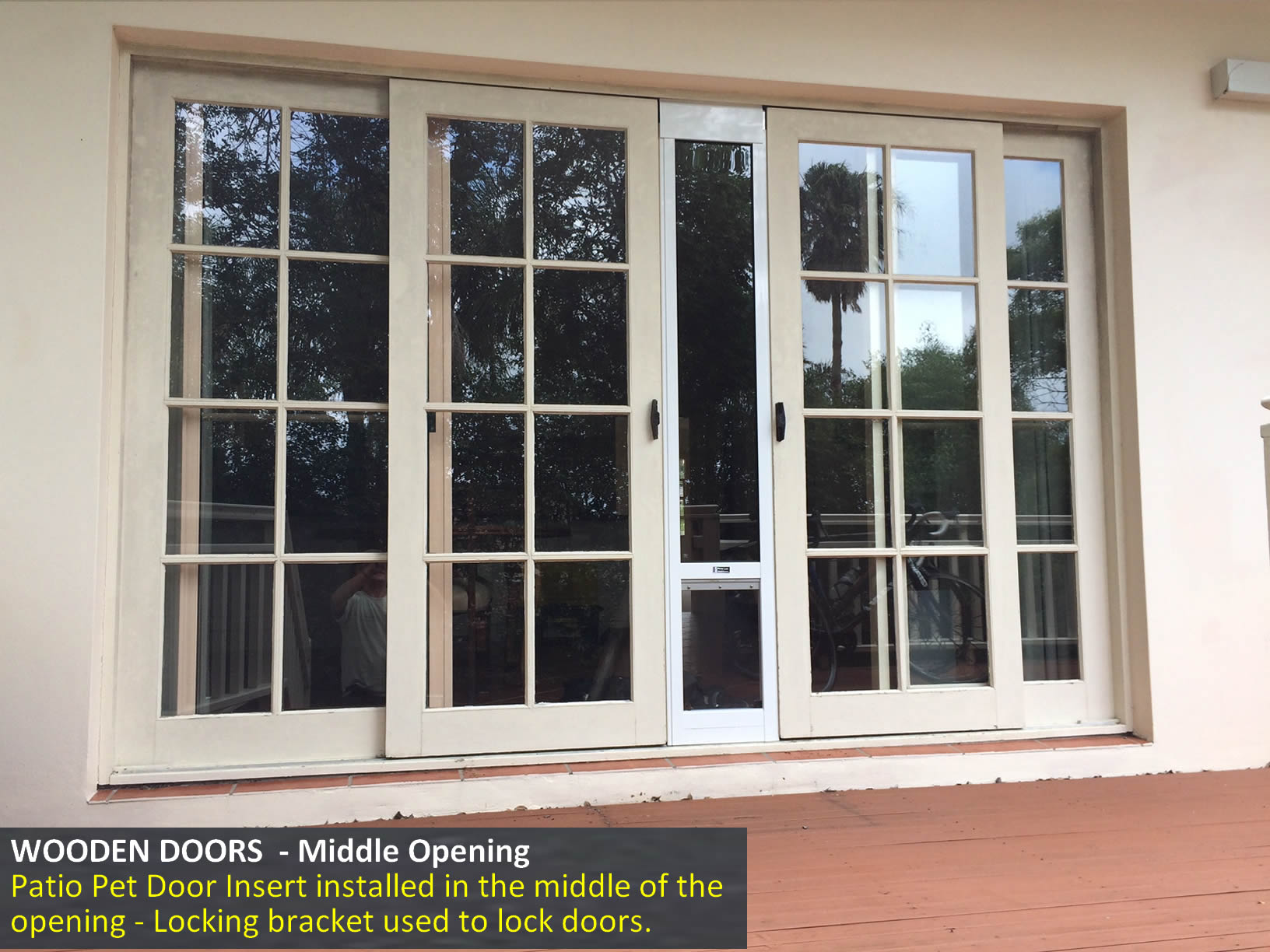 Wooden Doors - Middle Opening