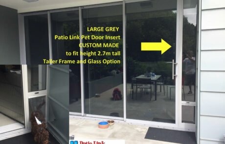 Custom made Large Grey pet door insert
