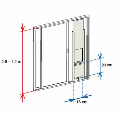 cat window insert for sliding window SALE $249